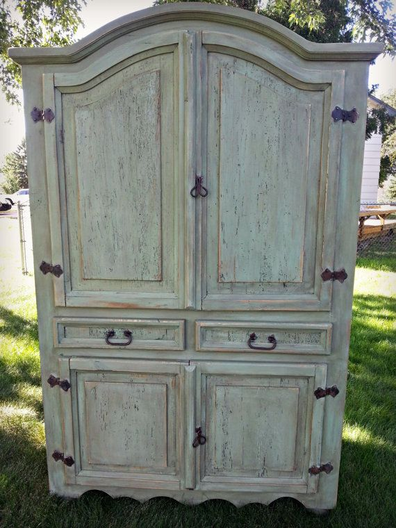 Rustic Mexican Pine Armoire by ThreeFreckles on Etsy, $550.00