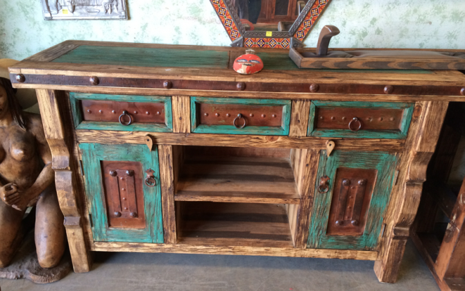 Rustic Painted Mexican Furniture