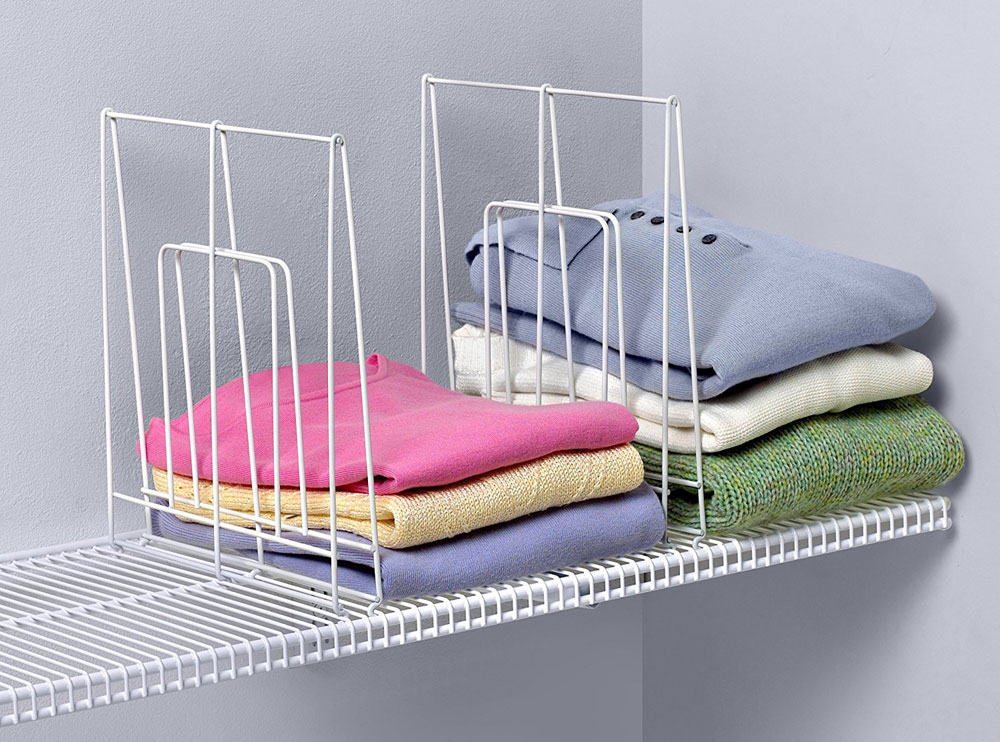 Large White Wire Shelf Divider Image. Click any image to view in high  resolution
