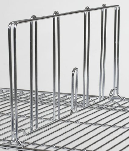 "Image Unavailable. Image not available for. Color: Omega 12"" Wire  Shelving Divider"