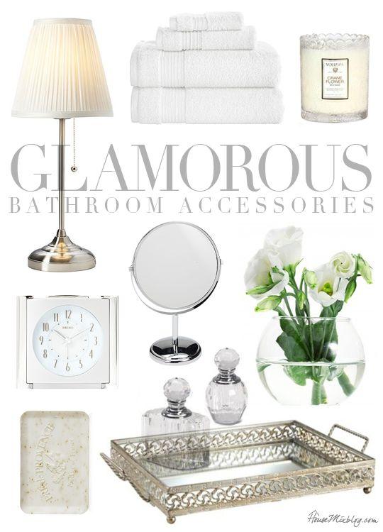 Glamorous bathroom accessories | House Mix: Decor & DIY | Glamorous