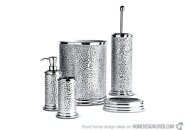 Black And Silver Bathroom Sets Silver Bathroom Accessories Black And