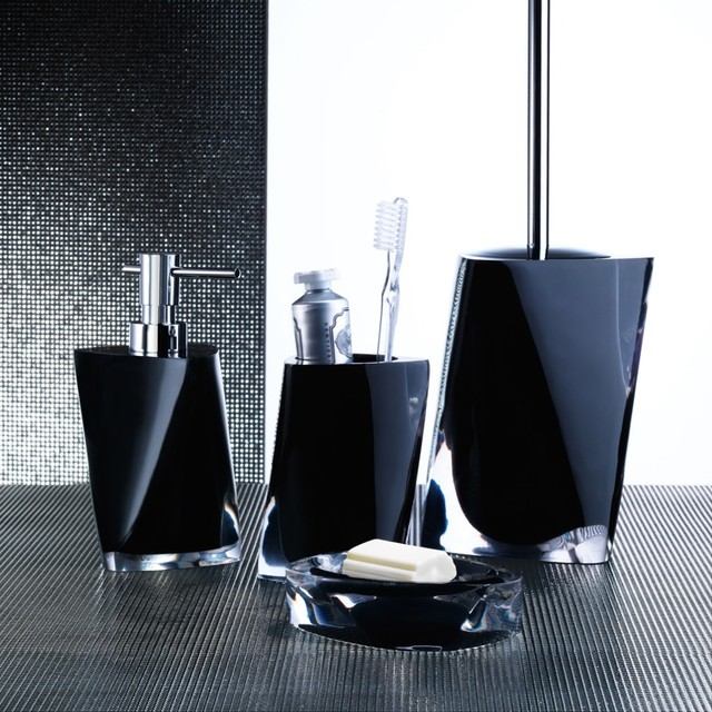 Black And Silver Bathroom Accessories Incredible Sets Bath Intended