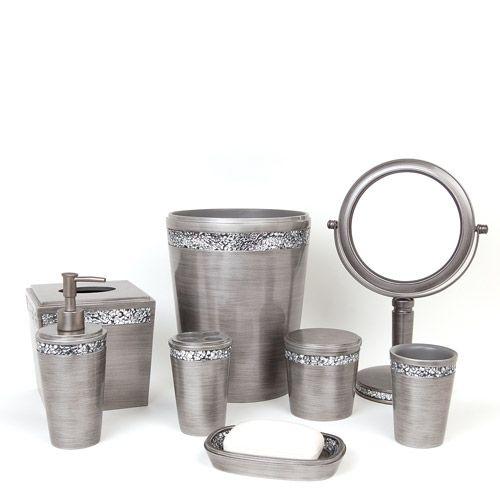 silver bathroom accessories | Bathroom | Glitter toilet seat, Silver