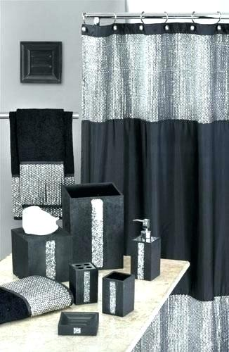 Black And White Bathroom Sets Black And Silver Bathroom Accessories