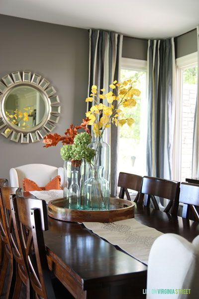 Fall Home Tour : Welcome Home | DIY Ideas | Dining room table decor