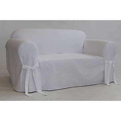 Amazon.com: Classic Slipcovers BT20RASLWHT Solid White Twill