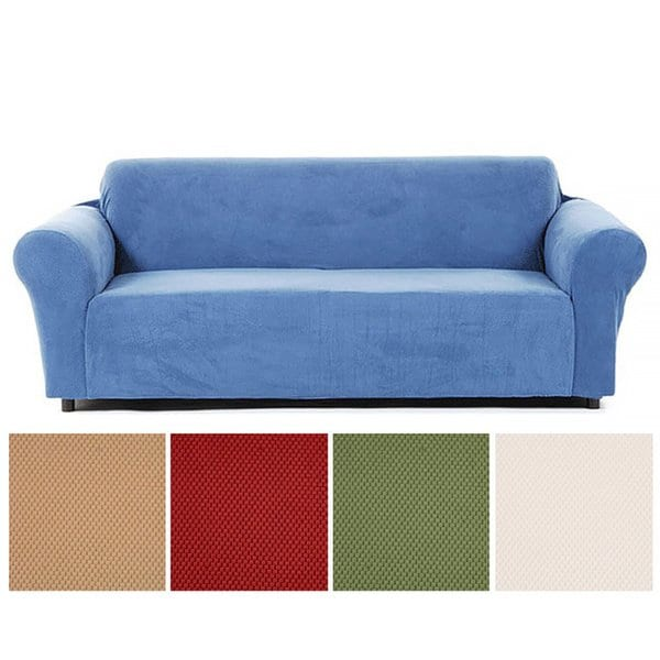 Shop Classic Slipcovers Snowball Stretch Loveseat Slipcover - Free