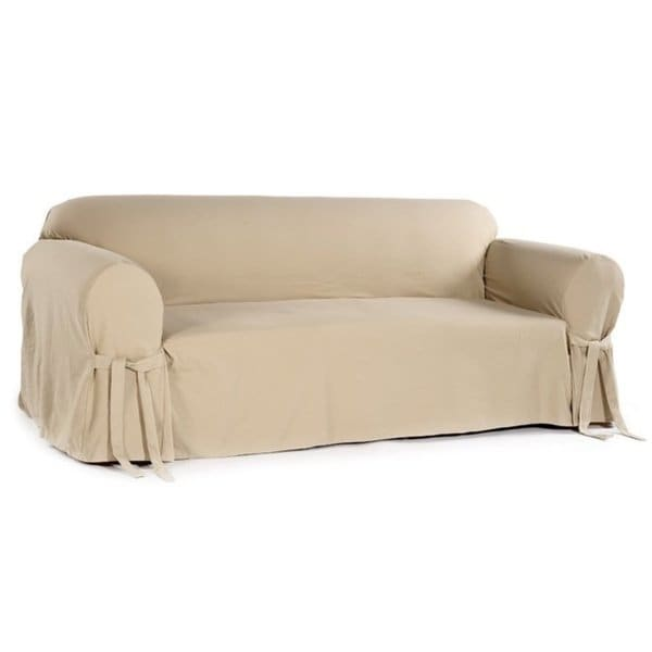Shop Classic Slipcovers Brushed Twill Loveseat Slipcover - Free
