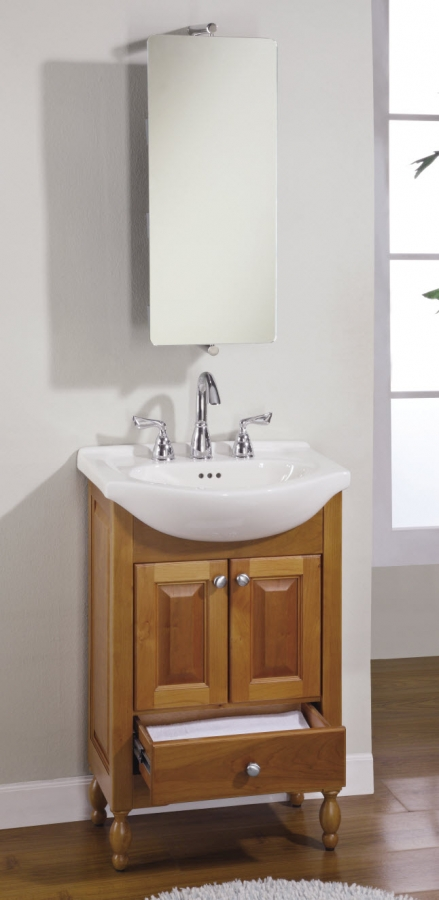 22 Inch Narrow Depth Console Bath Vanity   Custom Options