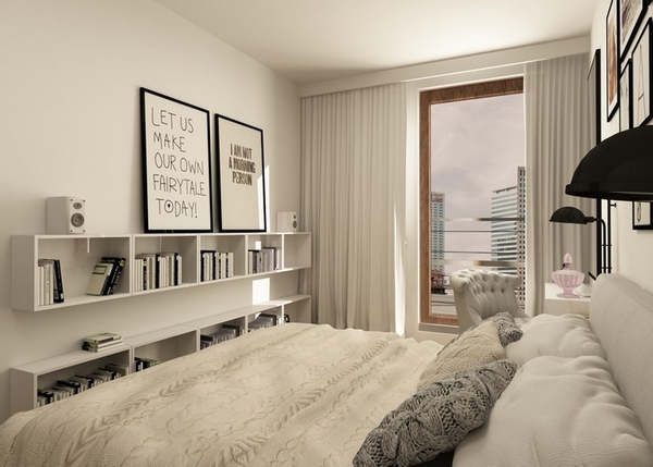 Small bedroom furniture ideas and tips to enlarge the space visually