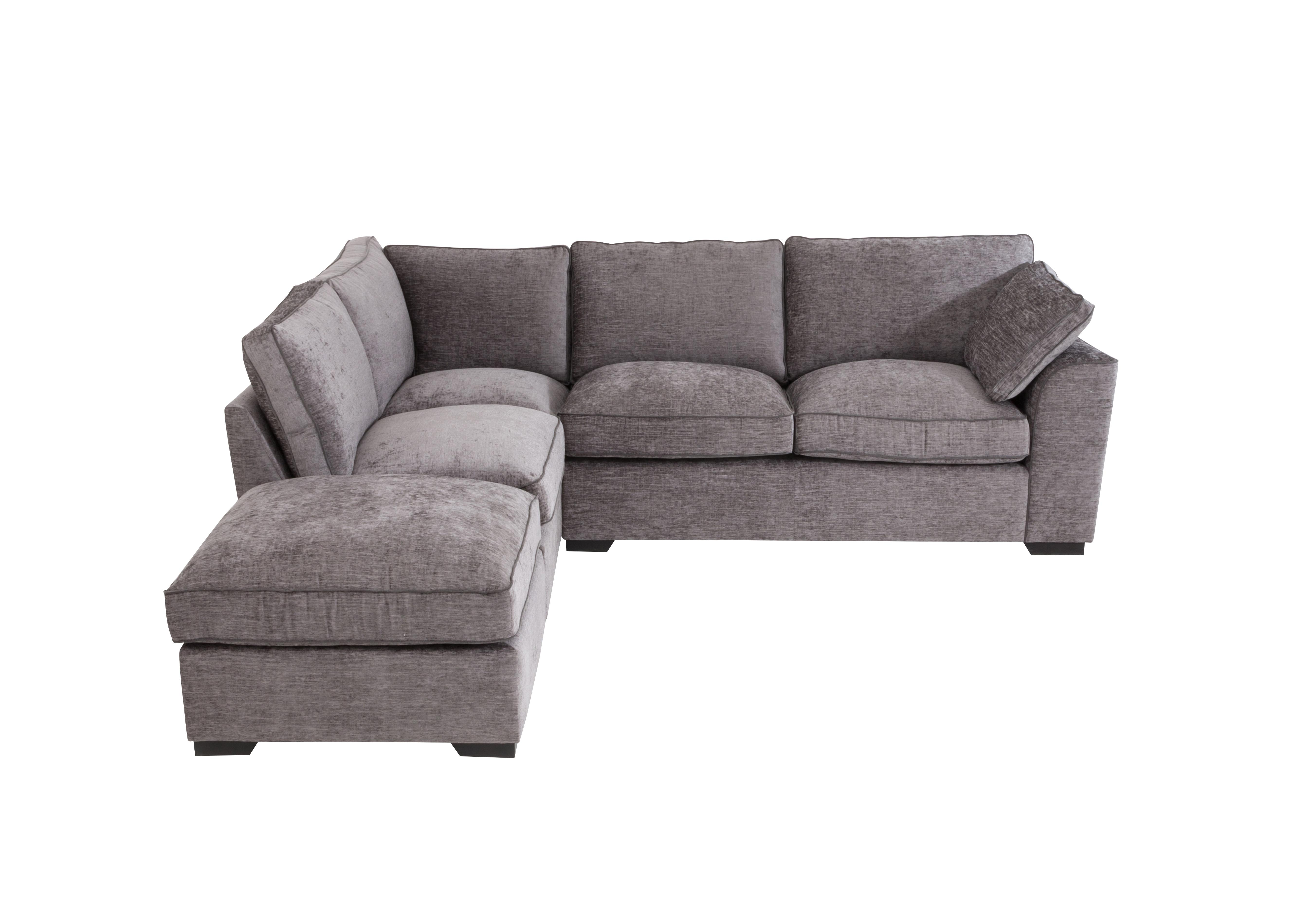 Alexandra Small Corner Sofa with Footstool - Furniture Village