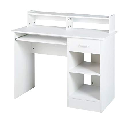 Amazon.com : White computer Desk Small Office Desk Work Table