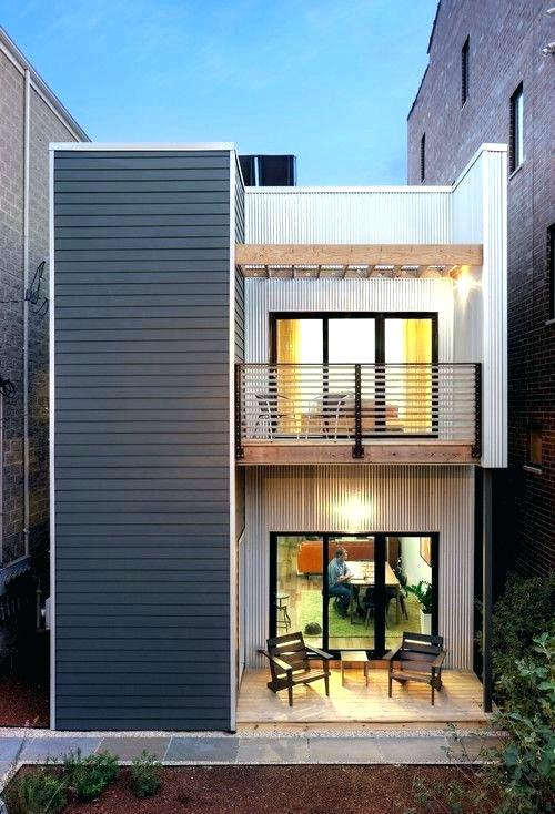 Home Design For Small Homes Exterior Modern Building With Balcony