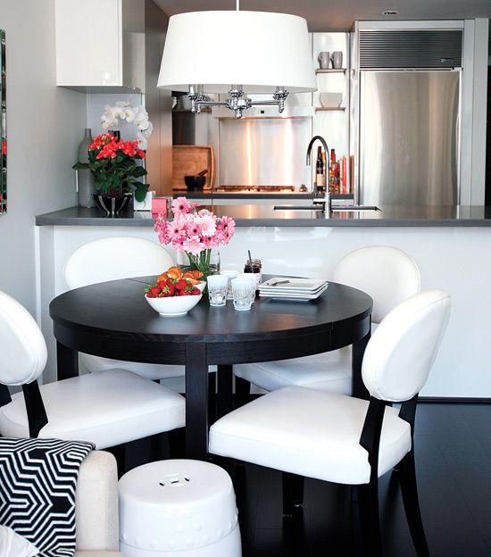 Small space interior: Chic condo | Design | Condo kitchen, Dining