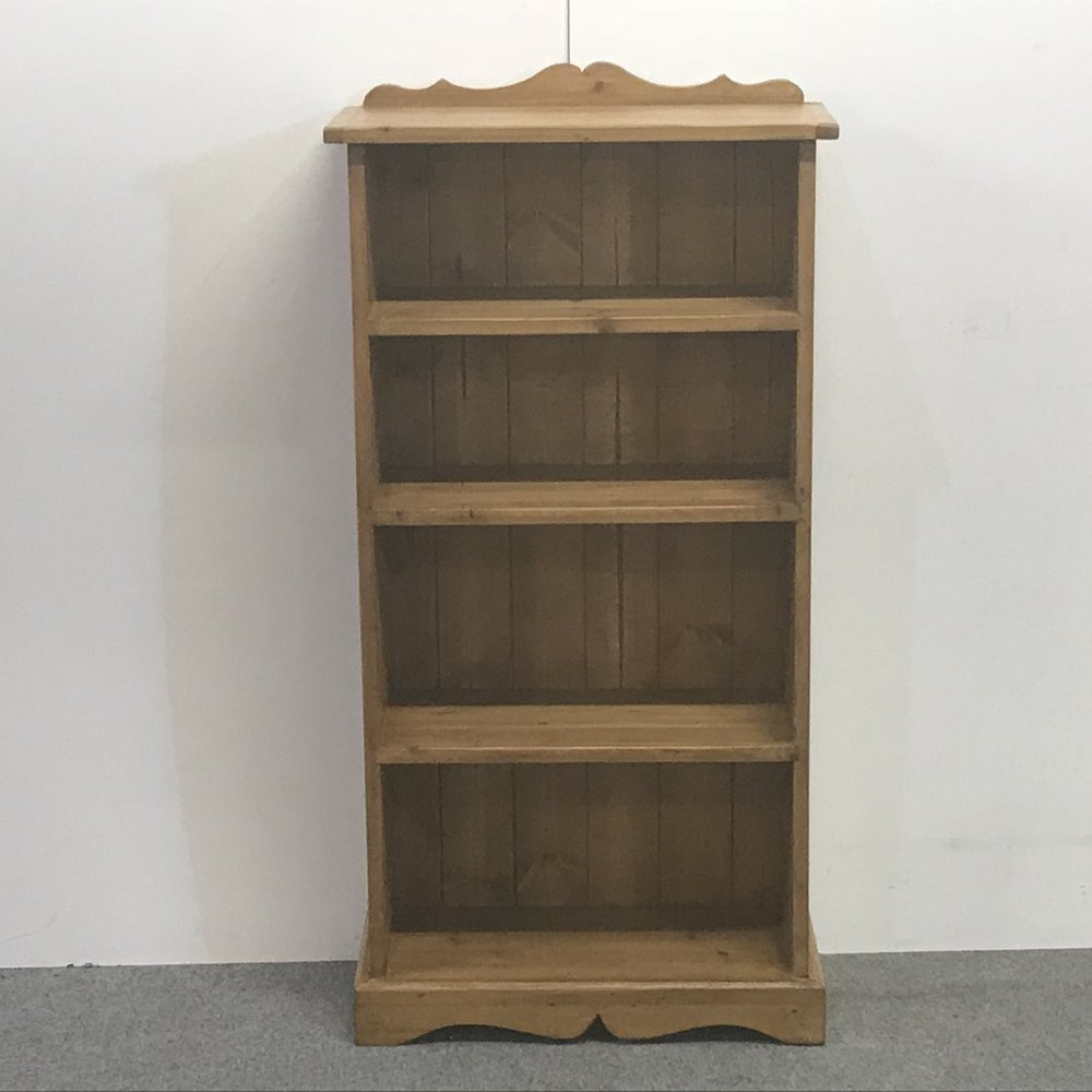 Handmade Small & Narrow Pine Bookcase (z6352a+) u2014 Pinefinders Old