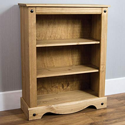 Home Discount Corona Small Bookcase, Solid Pine Wood: Amazon.co.uk