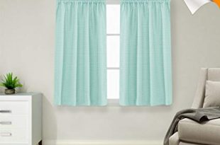 Amazon.com: Lazzzy Baby Blue Waterproof Small Window Curtains for