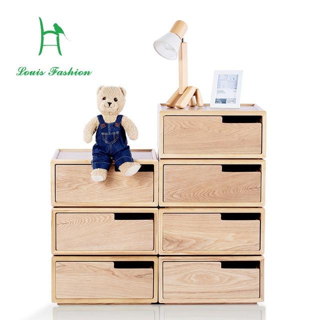 Louis Fashion Vopra Simple Modern Solid Wood Bedroom Storage Cabinet