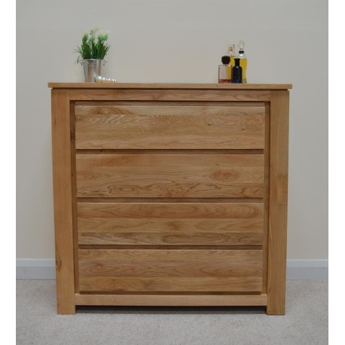 Movable and attractive solid wood bedroom chest of drawers for