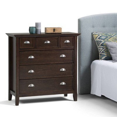 Normandy Solid Wood Bedroom Chest Of Drawers Tobacco Brown