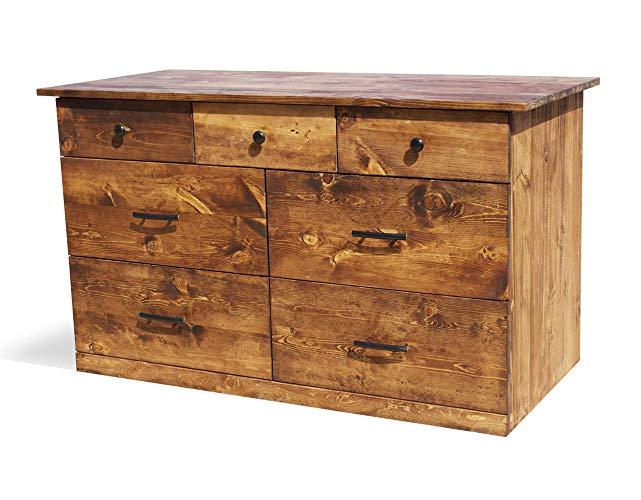 Amazon.com: Solid Wood Rustic Dresser | Home & Living | Bedroom
