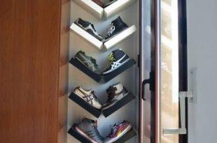 30+ Shoe Storage Ideas for Small Spaces | Closet ideas | Lack shelf