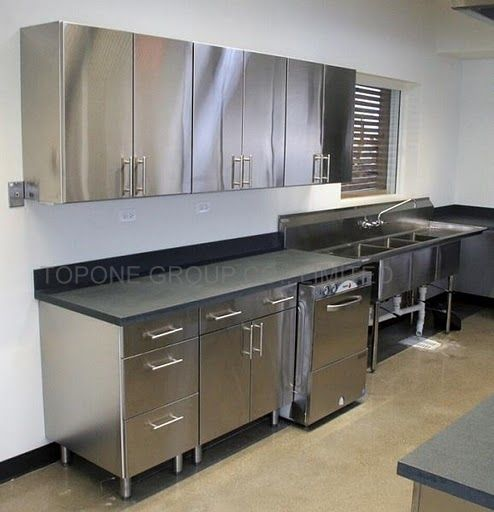 Stainless Steel Kitchen Cabinets | KoolKitch1 in 2019 | Stainless