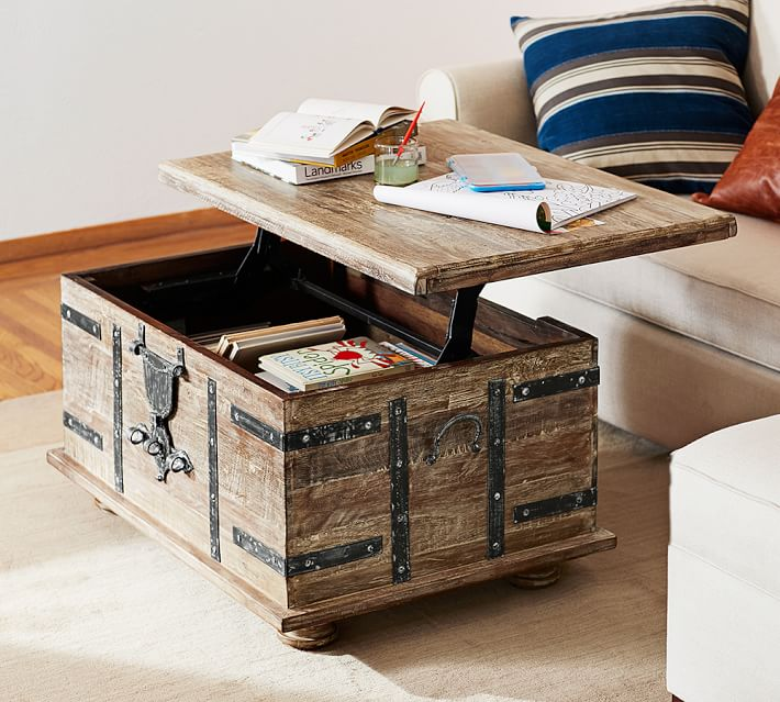 Storage Chest As Coffee Table