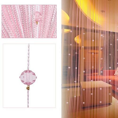 Tassel Curtain Crystal Beads Tassel Silk String Curtain Window Door