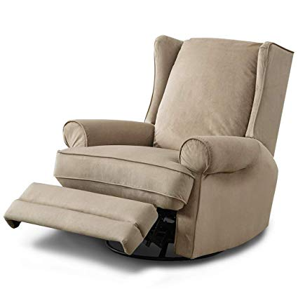 Amazon.com: BONZY Swivel Glider Recliner Chair Nursery Elderly Sofa