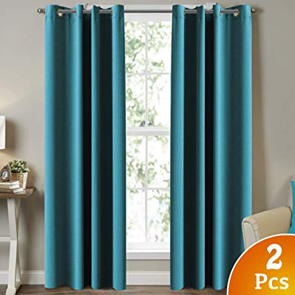 Amazon.com: Turquoize Blackout Curtains for Bedroom Drapes, Teal