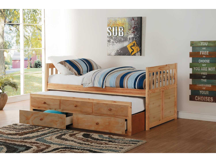 Bartly Twin Twin Trundle Bed with Two Storage Drawers - Shop for
