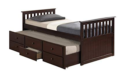 Amazon.com: Broyhill Kids Marco Island Captain's Bed with Trundle