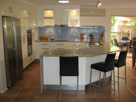 small u-shaped kitchen design ideas - YouTube
