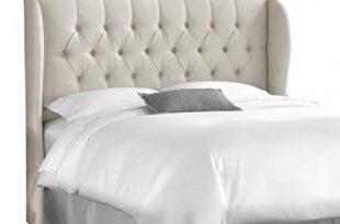 Amazon.com: Skyline Furniture King Tufted Wingback Headboard in