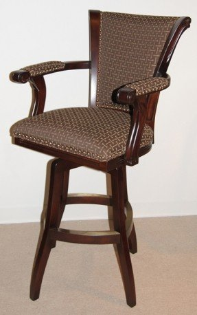 Upholstered Arm Swivel Bar Stool Foter Pertaining To Stools With