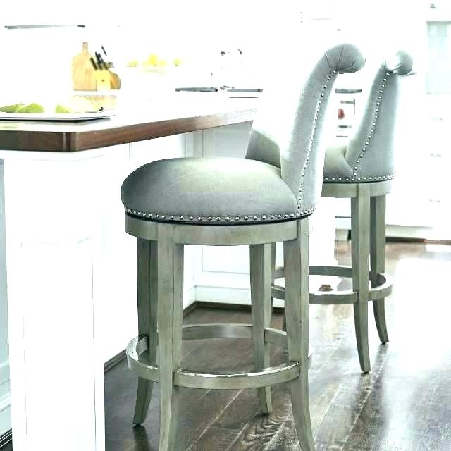 Fabric Bar Stools With Back Mladenovic Grey Upholstered Swivel Bar