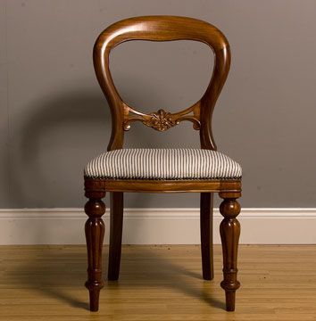 Victorian Style Dining Chair Bespoke Upholstered by Feather & Weave
