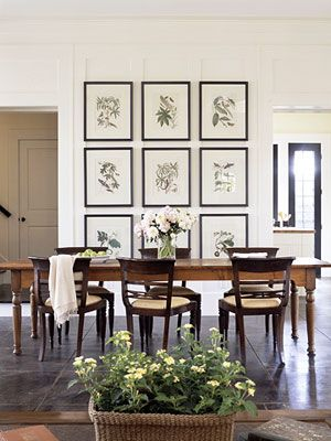 Decorating with Vintage Botanical Prints | Downstairs Bath | Dining