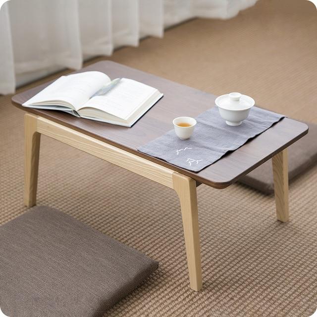 Solid Ash/Walnut Wood Center Coffee Tea Table Modern Mid Century