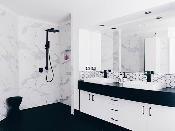 Get stylish and elegant white bathrooms with black taps u2013 DesigninYou