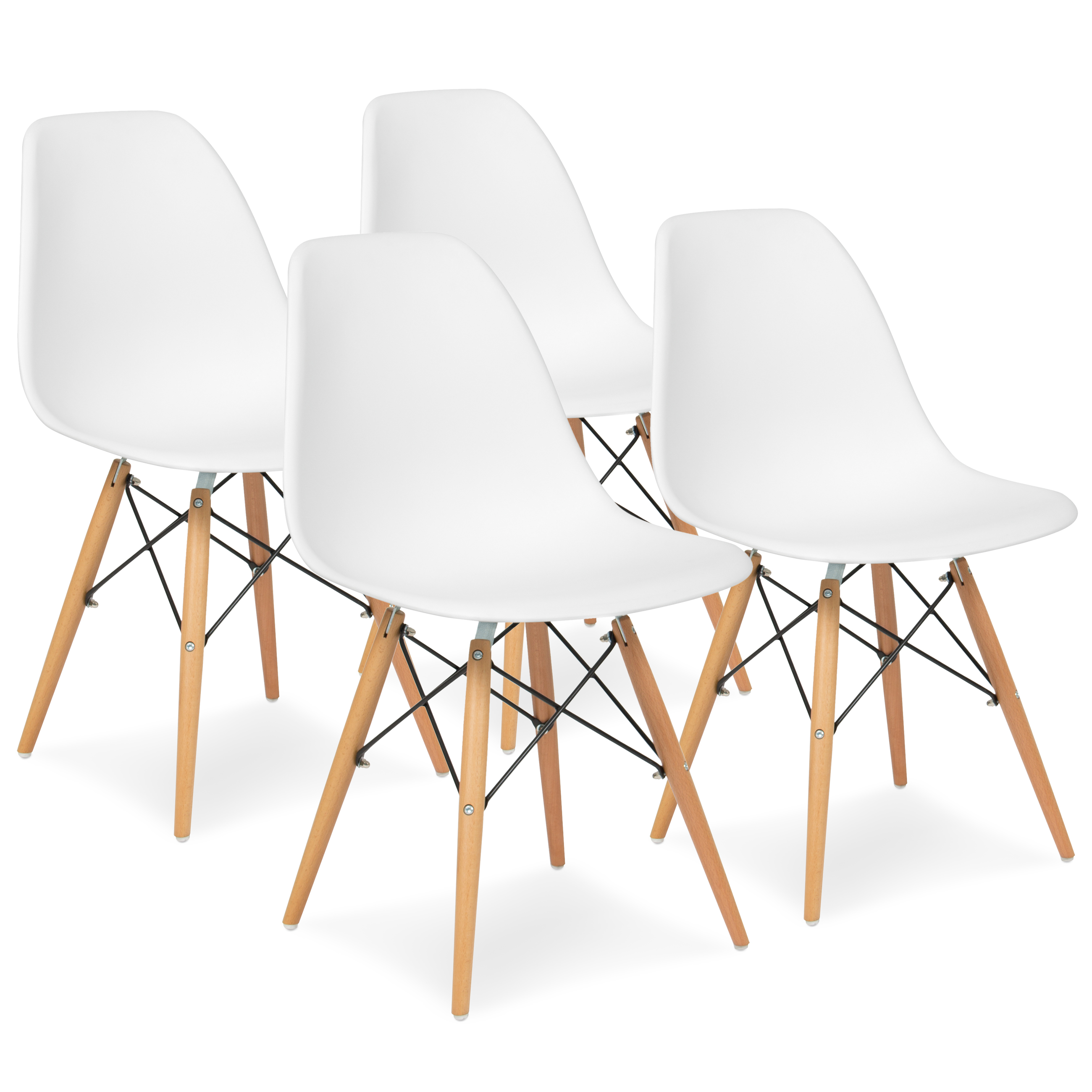 Best Choice Products Set of 4 Mid Century Modern Eames Style Dining
