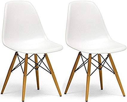 Amazon.com: Mod Made Mid Century Modern Armless Paris Dining Side