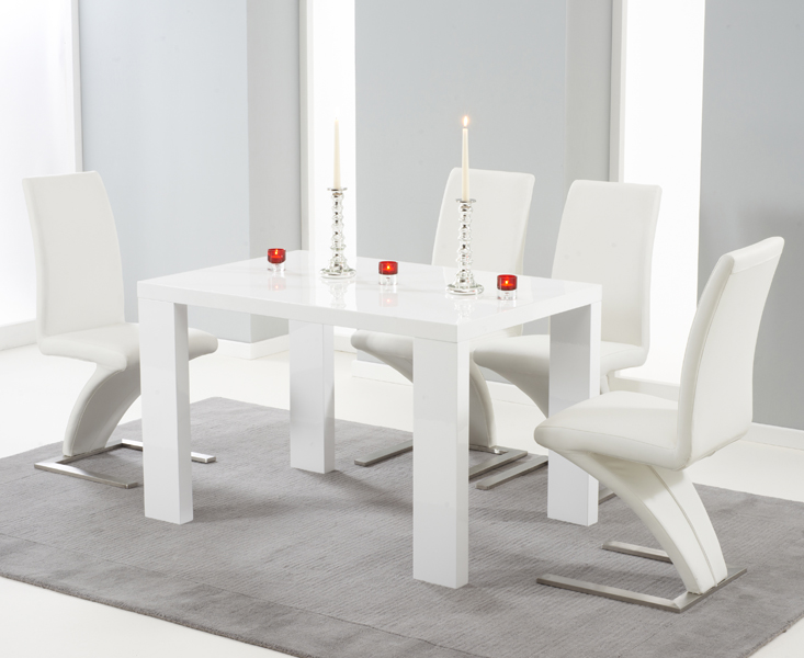 Chic Ideas White Gloss Dining Table - mathwatson