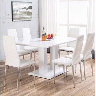 Fascinating White Dining Table Set And White Dining Table Set