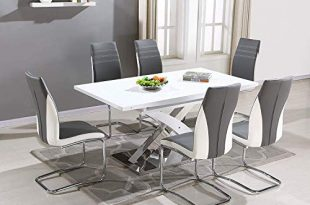 White Gloss Dining Tables: Amazon.co.uk