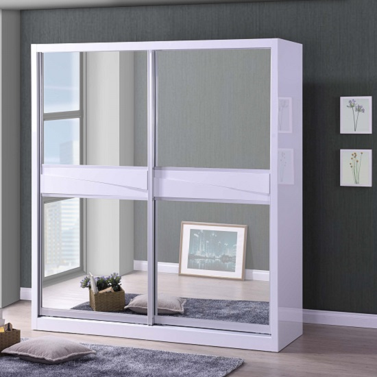White Mirrored Wardrobes Matching Design Scheme - FIF Blog