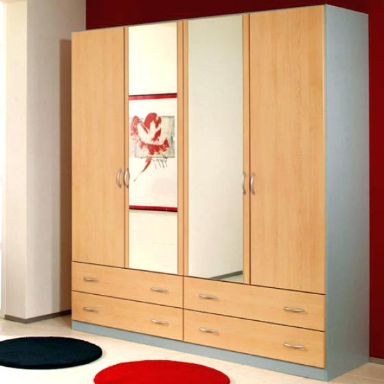 Wardrobes ~ Wardrobes With Mirrors 3 Door 2 Drawer Wardrobe Single