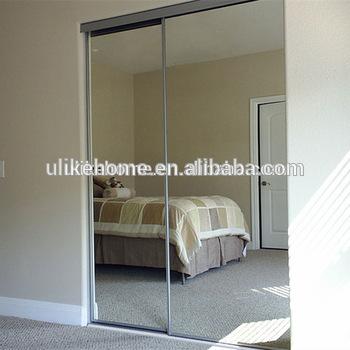 Paint White Aluminum Sliding Mirror Wardrobe Doors - Buy Aluminium
